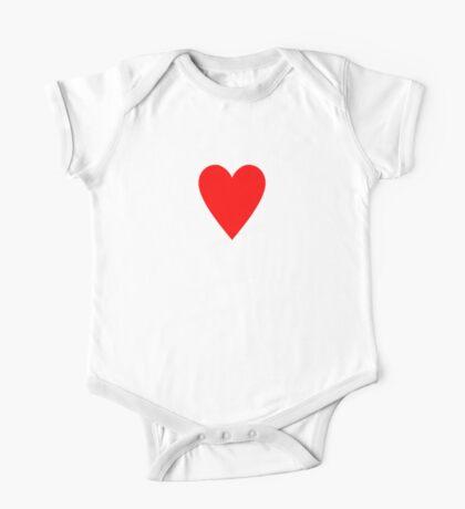 Ace of Hearts - Valentine Heart T-Shirt Duvet Dress Skirt Sticker Card One Piece - Short Sleeve