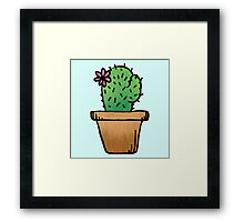 Cute ass cactus Framed Print