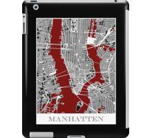 Map of Manhattan - Red  iPad Case/Skin