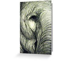 Elephant graphic illustration Greeting Card