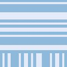 Shades of Blue Stripes by Greenbaby