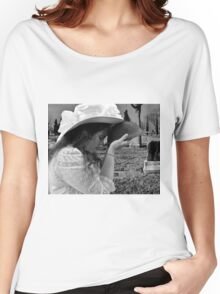 Gilded Memorial in Black and White Women's Relaxed Fit T-Shirt