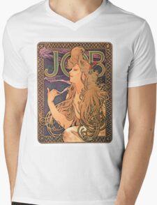 Vintage poster - JOB Cigarettes Mens V-Neck T-Shirt