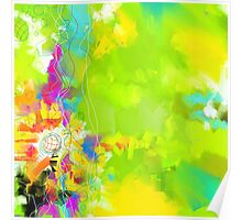 Abstraction in Green Poster