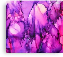 Purple rain forever abstract alcohol ink art Canvas Print