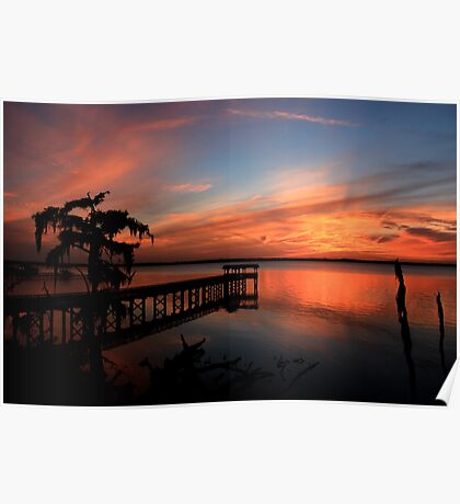 Beautiful St. Johns River Sunset Poster