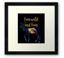 Wild & Free - One Deer and the Universe  Framed Print
