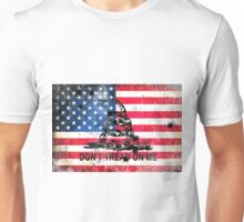 Viper N Bullet Holes On Old Glory Unisex T-Shirt