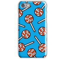 Red, white and blue lollipop pattern iPhone Case/Skin