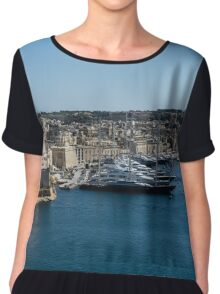 Postcard from Malta - Grand Harbour Superyachts Chiffon Top