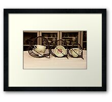Love Tea and cake Framed Print