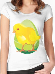 chicken and Animal cartoon Women's Fitted Scoop T-Shirt