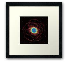 8bit Ring Galaxy  Framed Print