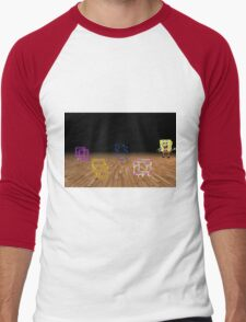 Square dance Men's Baseball ¾ T-Shirt