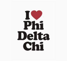 I Heart Love Phi Delta Chi Kids Clothes