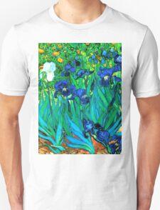 Van Gogh Garden Irises HDR Unisex T-Shirt