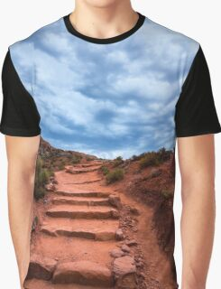 Delicate Stairway In Stormy Weather - Moab - Utah Graphic T-Shirt