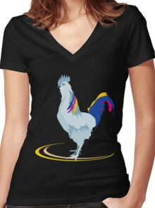Beautiful Chicken Women's Fitted V-Neck T-Shirt
