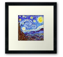 The Starry Night HDR Framed Print
