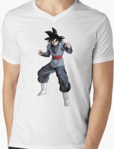 Black Goku Mens V-Neck T-Shirt