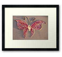 Butterfly Scarlet Framed Print