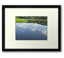 Clouds reflection On Lake Framed Print