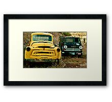 Black and Yellow Framed Print