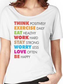 Think Positively Women's Relaxed Fit T-Shirt