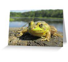 Posing Frog Greeting Card