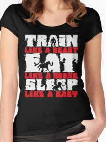 Train Like A Beast, Eat Like A Horse Women's Fitted Scoop T-Shirt
