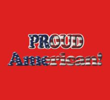 Patriotic Proud American with US Flag by NaturePrints