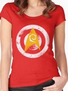 Star Trek Target Practice - No Words Women's Fitted Scoop T-Shirt