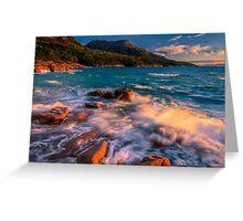 Sunset in Honeymoon Bay Greeting Card