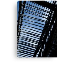 Fire Escape and Sky Canvas Print