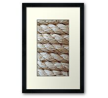 Rope style Framed Print