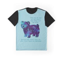 """Times May Be Bad"" Galaxy Sparkle Bear Graphic T-Shirt"