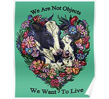 Happy Cows - (We Are Not Objects Series) Poster