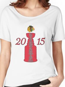 Chicago Blackhawks Stanley Cup Champions 2015 Women's Relaxed Fit T-Shirt