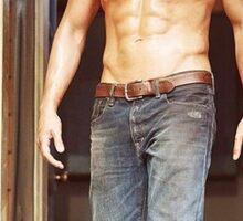 Shirtless Sebastian Stan Sticker