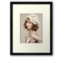 Jessica Jung SNSD Girls' Generation KPOP Framed Print