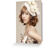 Jessica Jung SNSD Girls' Generation KPOP Greeting Card