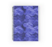 Small Royal Blue Purple Water Air Bubbles Spiral Notebook