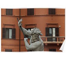Neptune and the Dove - Fountain of Neptune, Piazza Navona, Rome, Italy Poster
