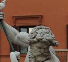 Neptune and the Dove - Fountain of Neptune, Piazza Navona, Rome, Italy Sticker