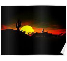 Big Desert Sunset Poster