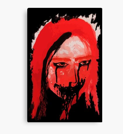 Creppy scary horror Lady Canvas Print