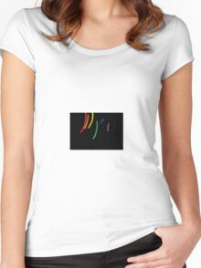 Oil-Brush Pride LGBTQ Women's Fitted Scoop T-Shirt