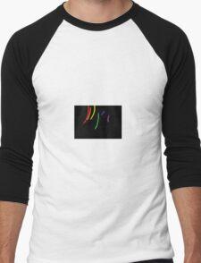 Oil-Brush Pride LGBTQ Men's Baseball ¾ T-Shirt