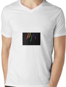 Oil-Brush Pride LGBTQ Mens V-Neck T-Shirt