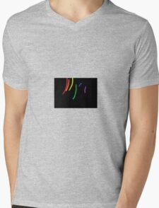 Oil-Brush Pride LGBTQ Mens V-Neck T-Shirt
